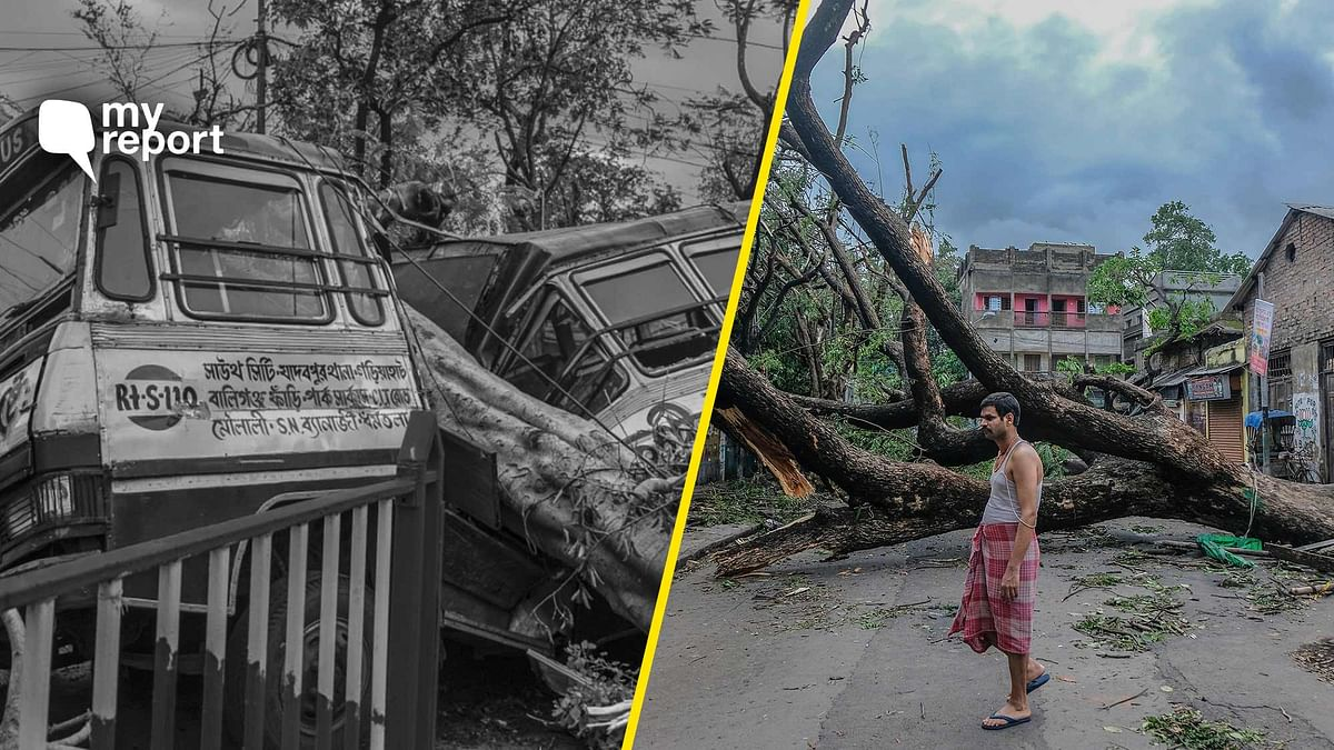 I along with my friend Koushik decided to travel across the city to capture the impact of the cyclone.