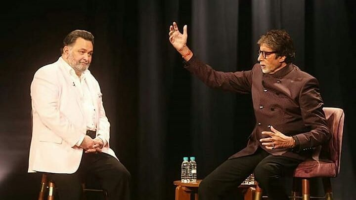 Rishi and his close friend Amitabh Bachchan.