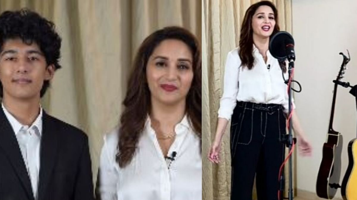 Madhuri Enthralls Fans by Singing 'Perfect' By Ed Sheeran With Son