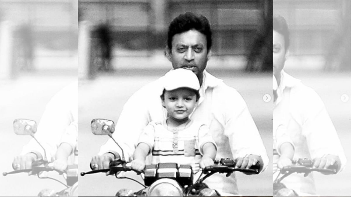 Irrfan Khan with his son Ayaan.