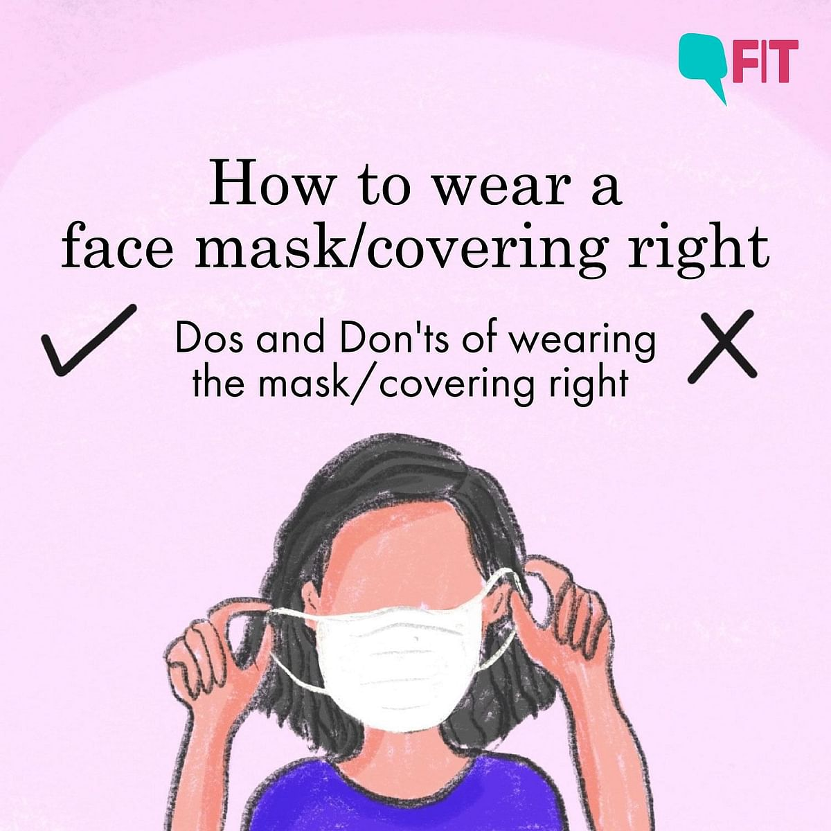 How to wear a face mask right.