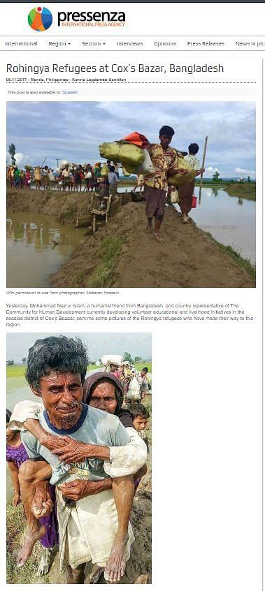 2017 Image of Rohingya in B'desh Shared as Migrants Walking Home