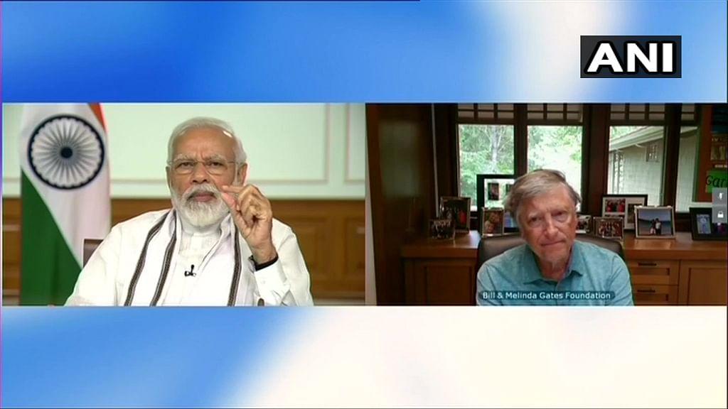 PM Modi Discusses COVID-19 with Bill Gates Via Video Conference