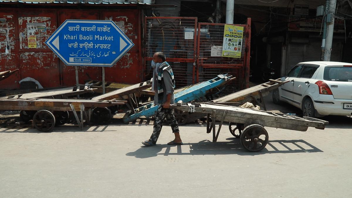 Prem Singh is a daily wage labourer in Khari Baoli, Delhi
