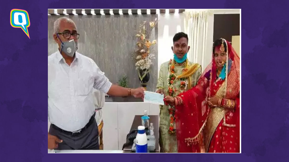 Couple in Odisha donating to the CRM