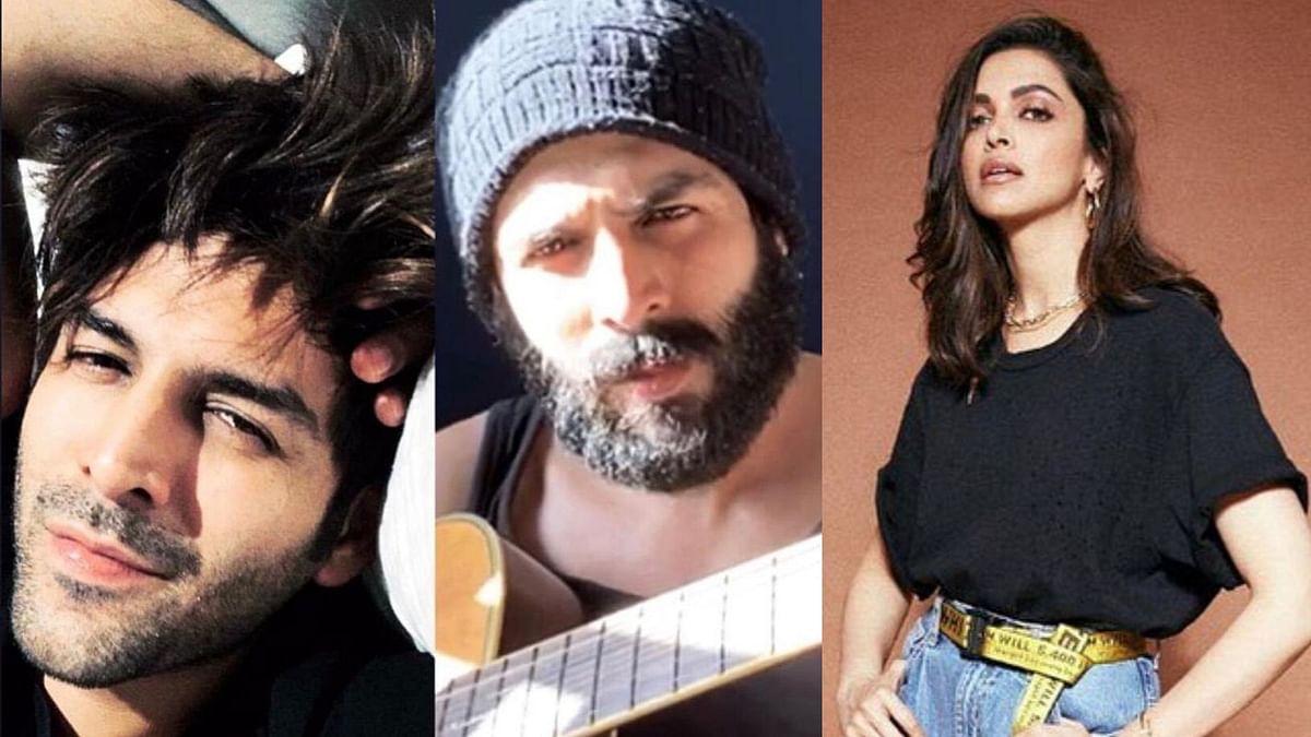 Kartik Asks Fans If He Should Shave His Beard; Deepika Answers