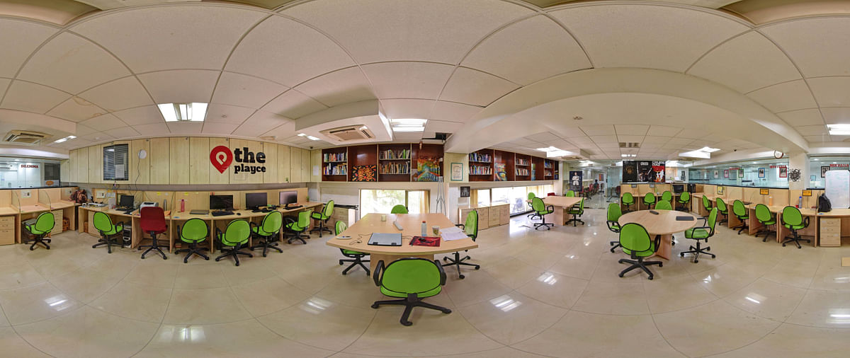 A section of the co-working space at The Playce