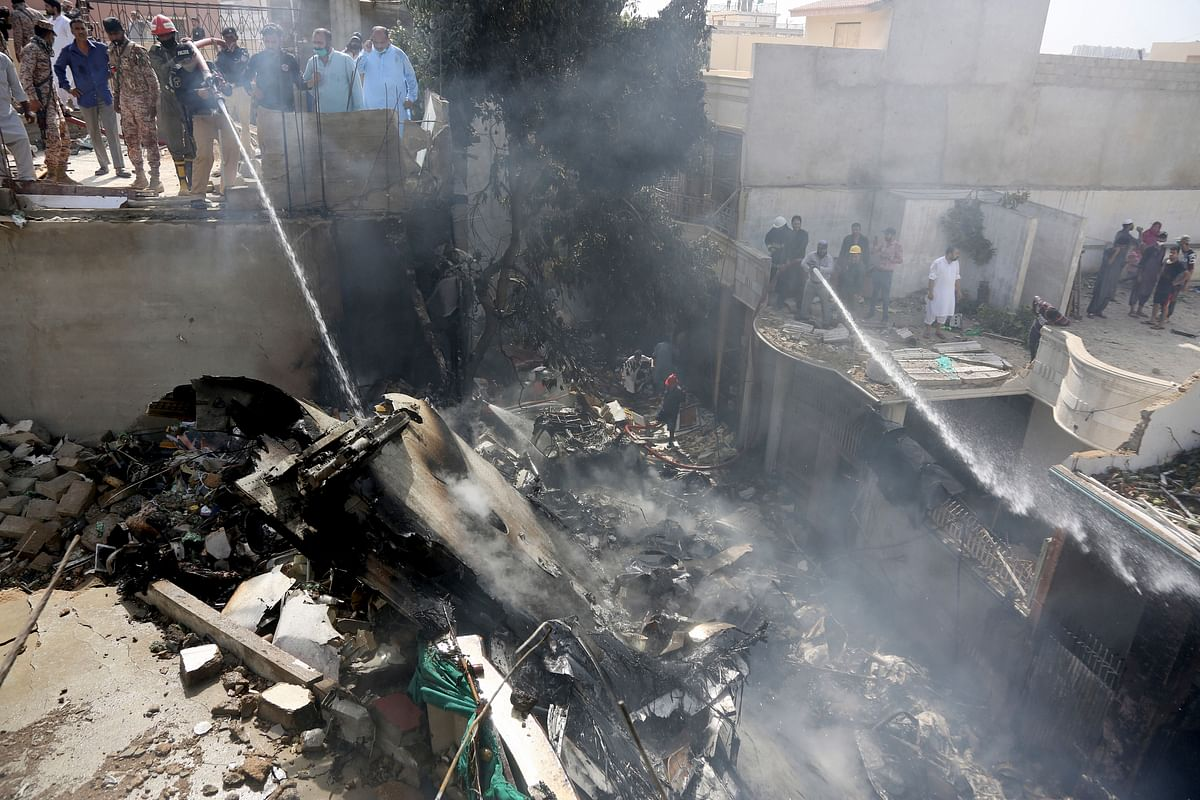 99 people were reportedly on board the flight that departed from Lahore and was to land in Karachi on Friday afternoon