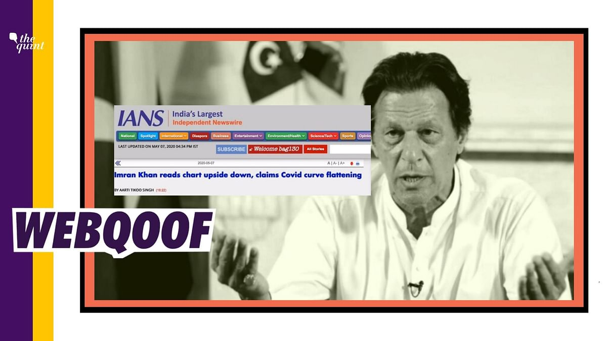IANS Falls for Satire; Claims Imran Read COVID Curve Upside Down