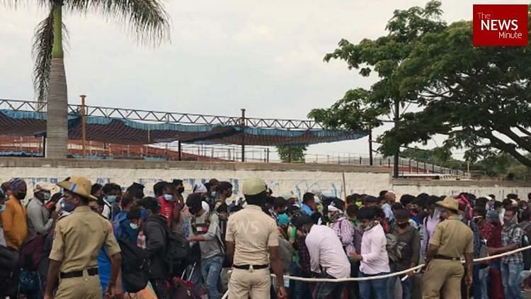 Why Thousands of Migrants Gathered At Bengaluru's Palace Grounds