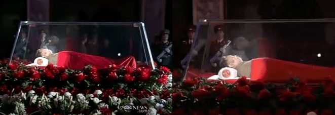 Left: ABC News Video. Right: Viral video.