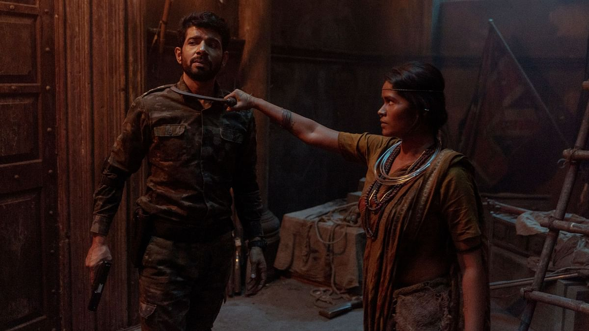 Vineet Singh with a co-actor in <i>Betaal.</i>