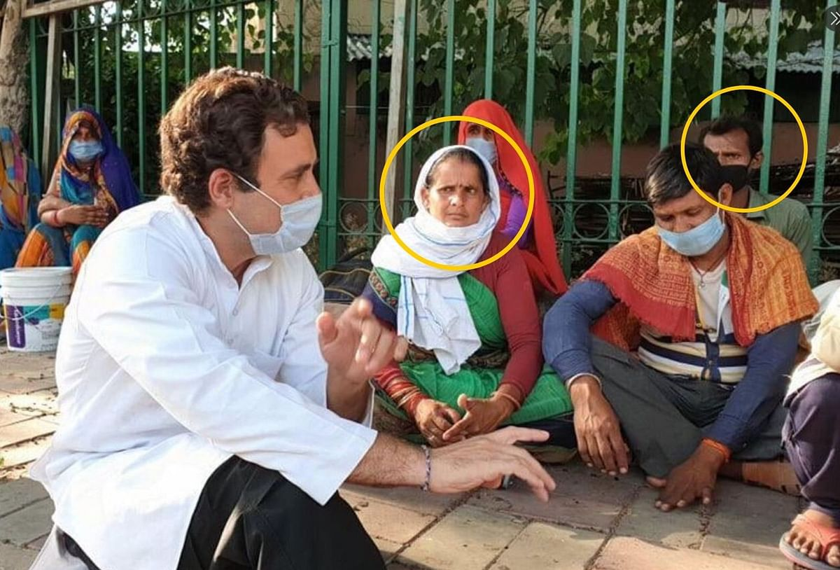 Was Rahul's Interaction With Migrants in Delhi Staged? Fake Alert