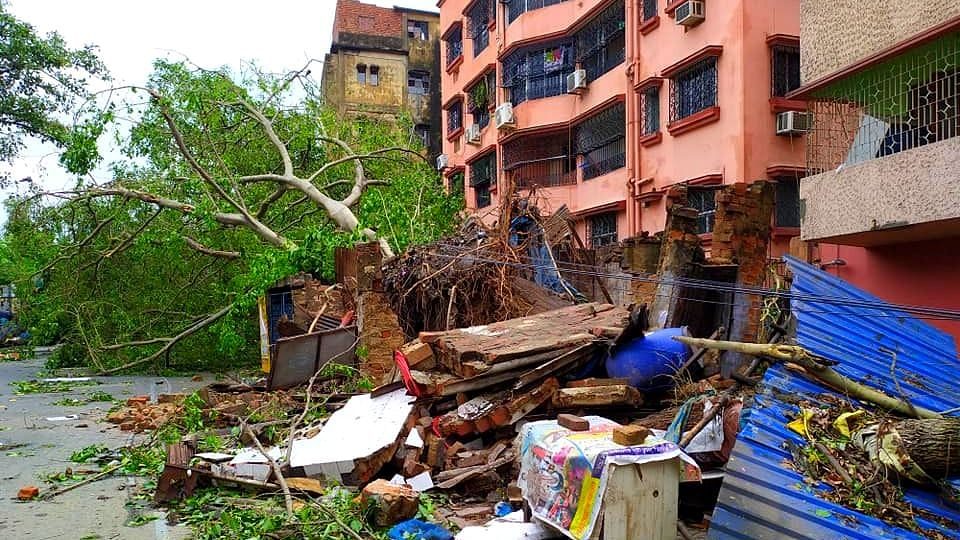 A neighbourhood in south Kolkata that was badly damaged by the cyclonic storm.