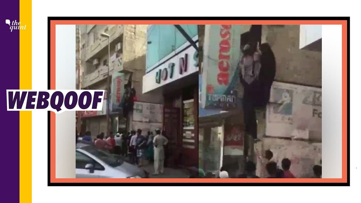 The video is from Karachi in Pakistan and is as old as 2015.
