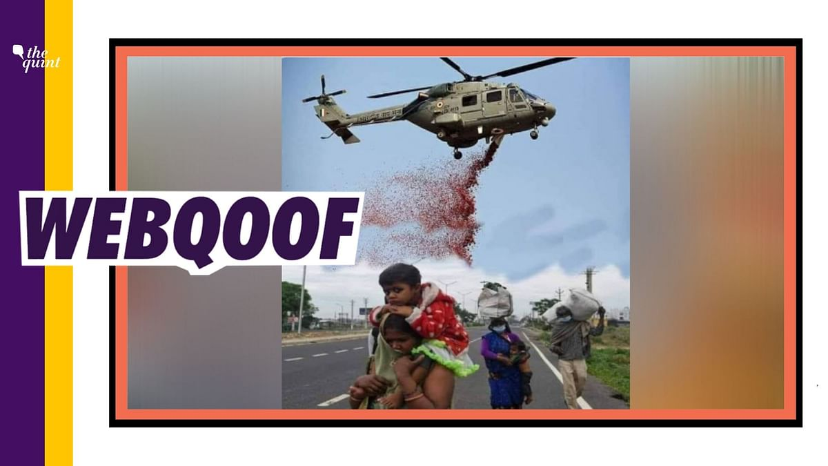 IAF Helicopter Showered Petals on Migrant Workers? Not Really