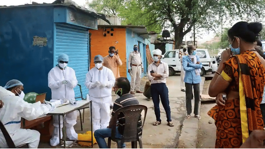 Representative Image of COVID-19 testing in Bhopal