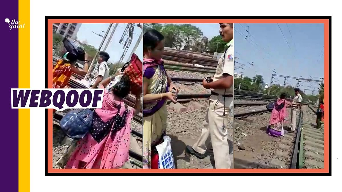 The video is from 2019 and it shows an RPF personnel accepting bribe from women bootleggers in Surat.
