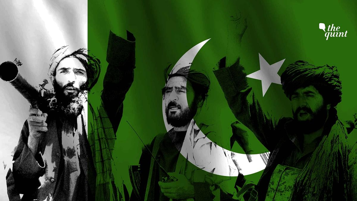 Image of Pakistan flag and an AP image of the Taliban used for representational purposes.