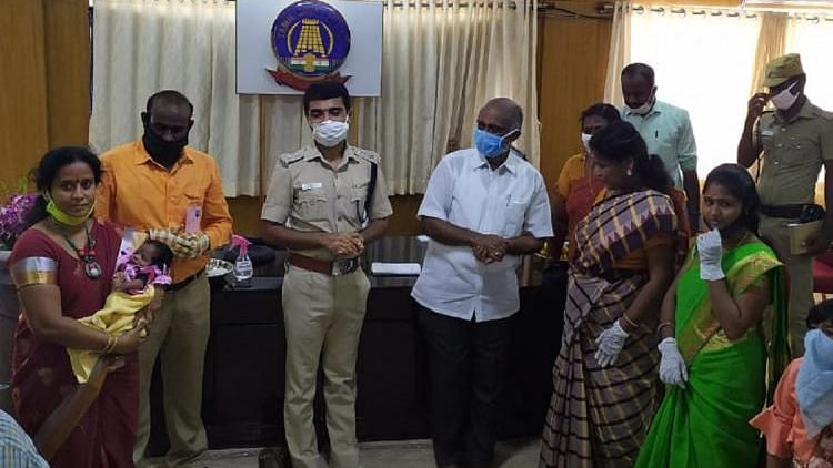 It was an emotional day for the Pudukkottai district Superintendent of Police, Arun Sakthi Kumar, who was asked to name a baby whom he rescued.