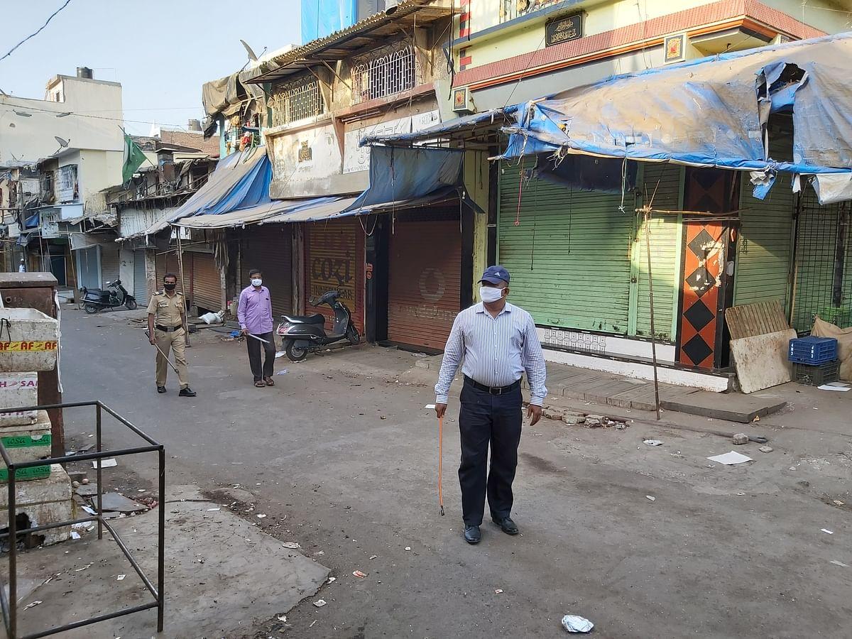 Police patrolling in Baiganwadi.