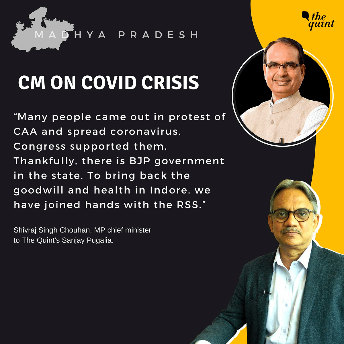 Exclusive | Cong Didn't Pay Heed, BJP Handled COVID Crisis: MP CM