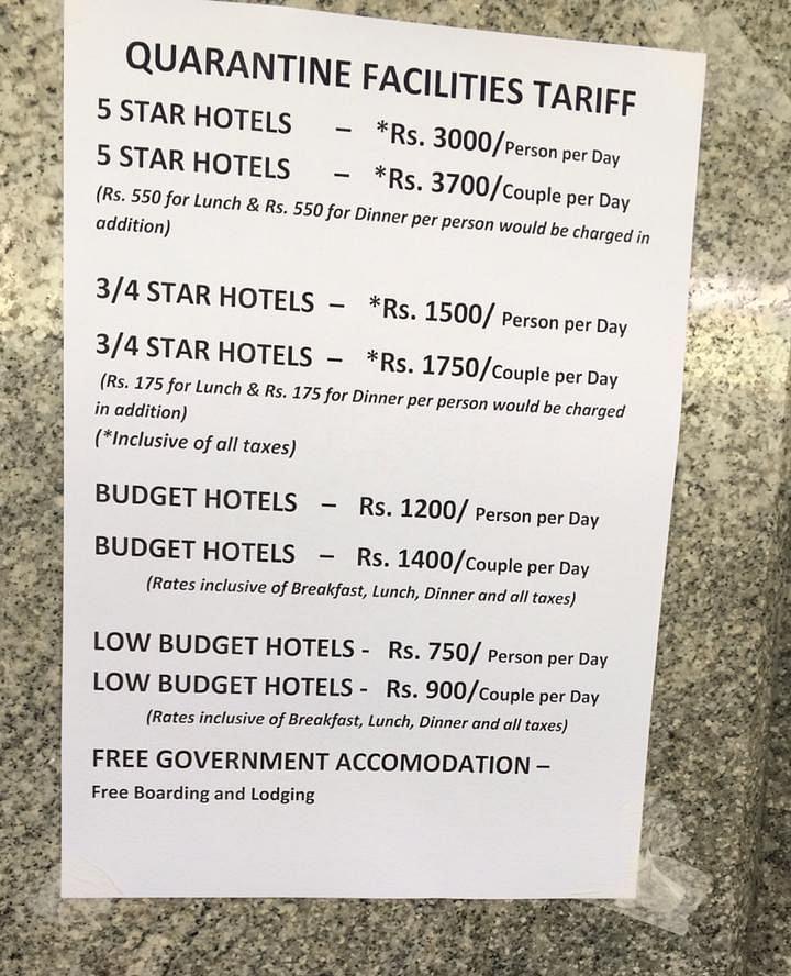 Tariffs offered in Bengaluru