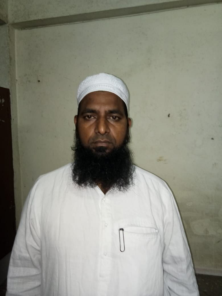 This is Muhammad Mustafa who is the <i>amir</i>, or the head, of this particular Jamaat from Andhra Pradesh's Guntur district. He is on calls with people all the time trying to get the ten of them out.