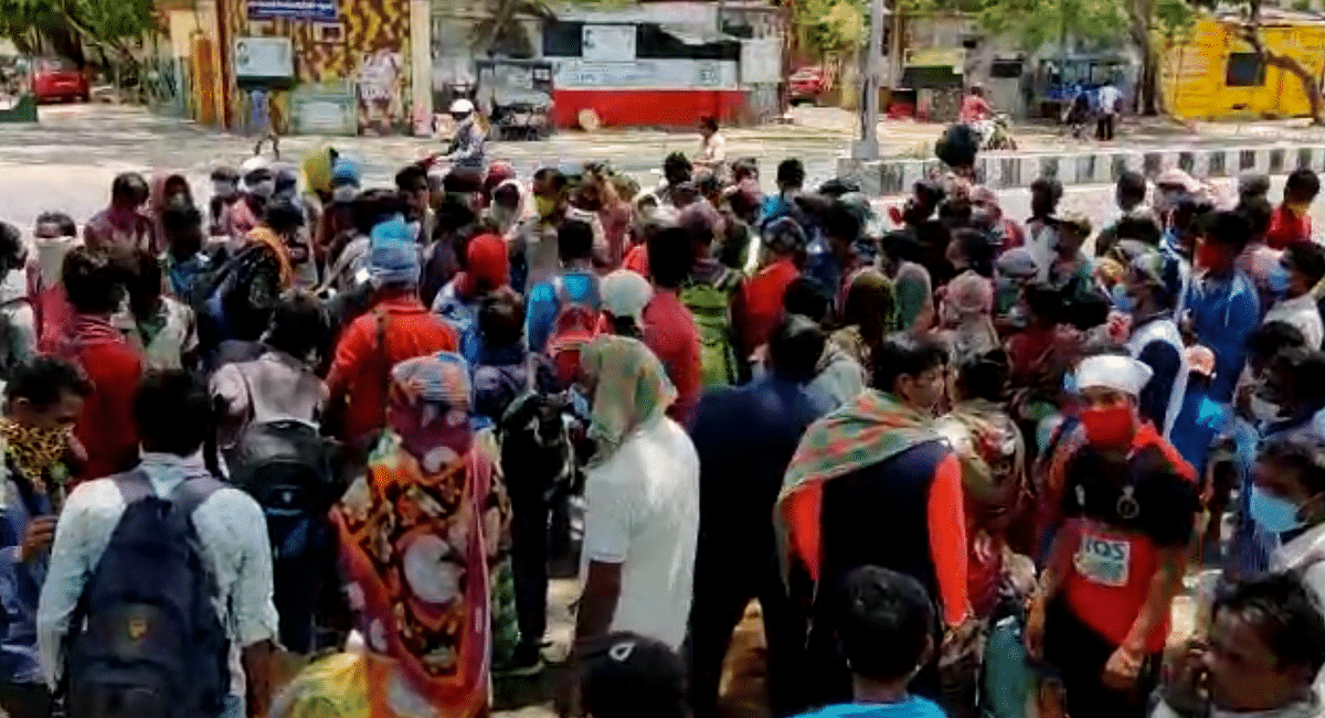 Nearly 300 people from Odisha who have been stranded in Chennai gathered at the Chennai Central station to go home.