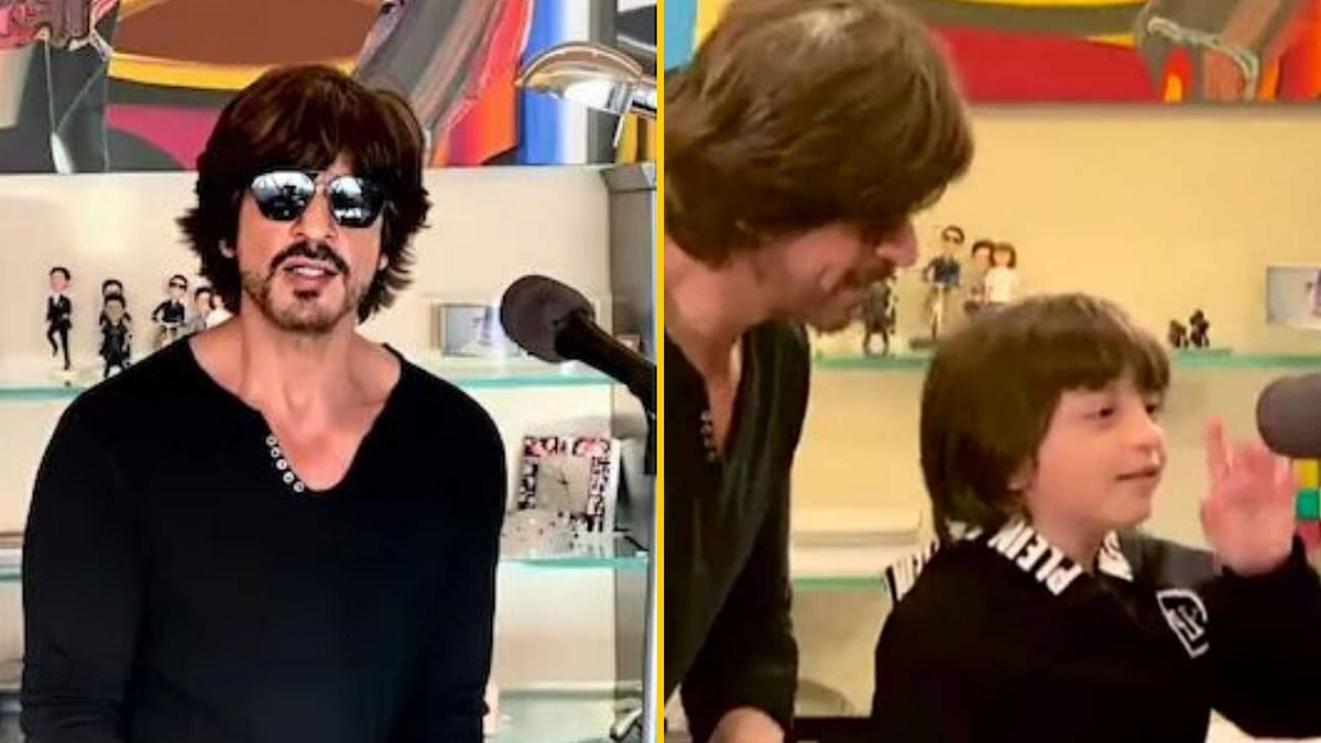 SRK Wins Hearts Performing With AbRam During 'I For India' Concert