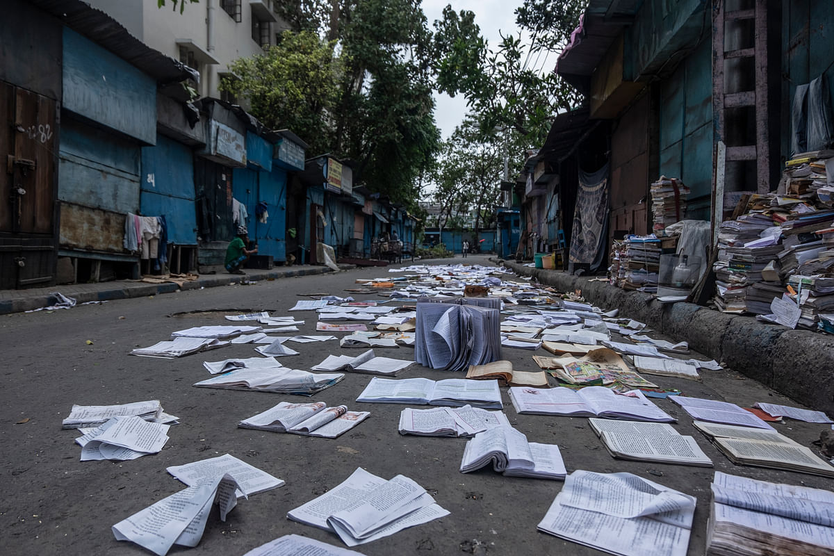 Kolkata's iconic College Street covered with books post Amphan.