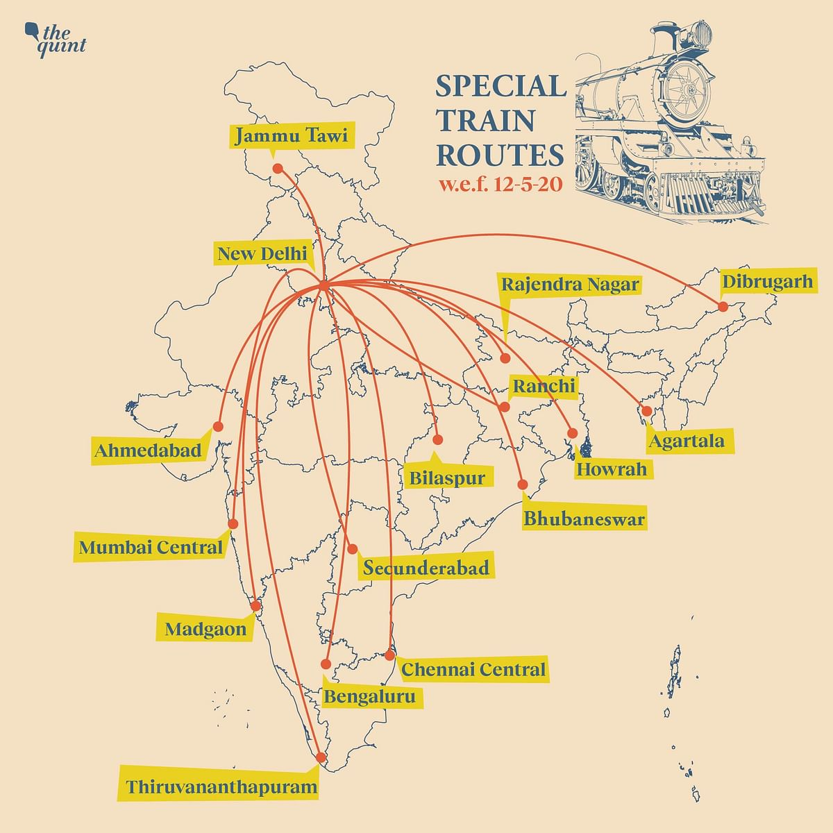 Amid  Lockdown, Railways Starts Select Trains: Here's the List