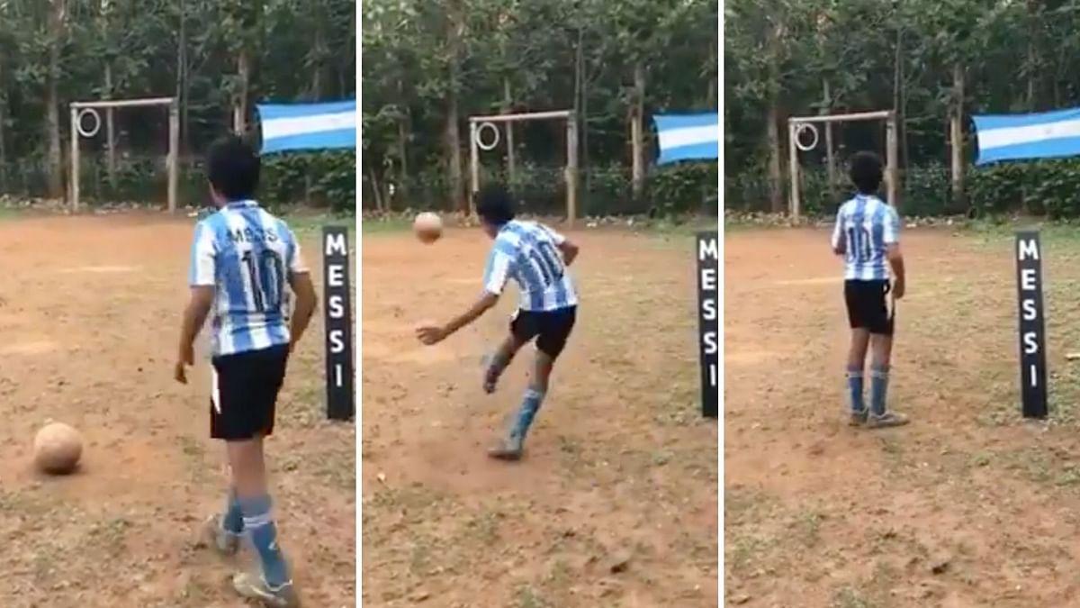 Watch Kerala Boy's Messi-esque Free Kick That Has Gone Viral