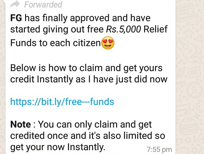 No, Govt Isn't Giving Rs 5,000 For Free as COVID-19 as Relief Fund