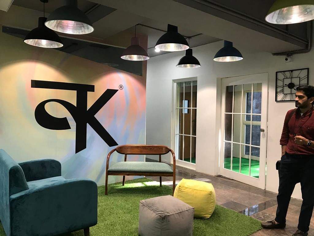 A section of the co-working space at Karya space