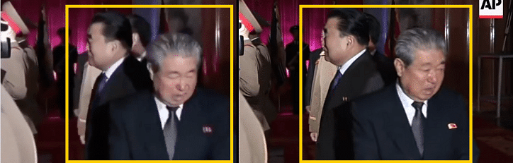 Left: Viral video. Right: AP video.