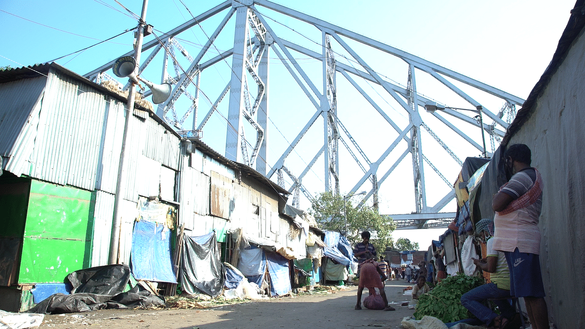 The Mullick Ghat Flower Market in Kolkata lies desolate even as flower markets were opened in the state on 11 April.