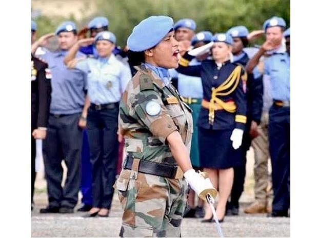 Major Suman Gawani in action.