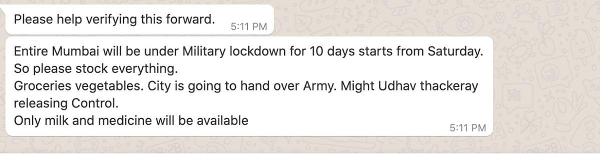 Mumbai Under Military Lockdown From Sat? CM, Army Say Fake News