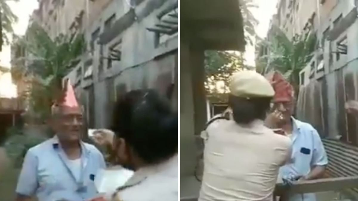 Watch: Assam Police Surprises 78-Yr-Old Man on B'Day Amid Lockdown