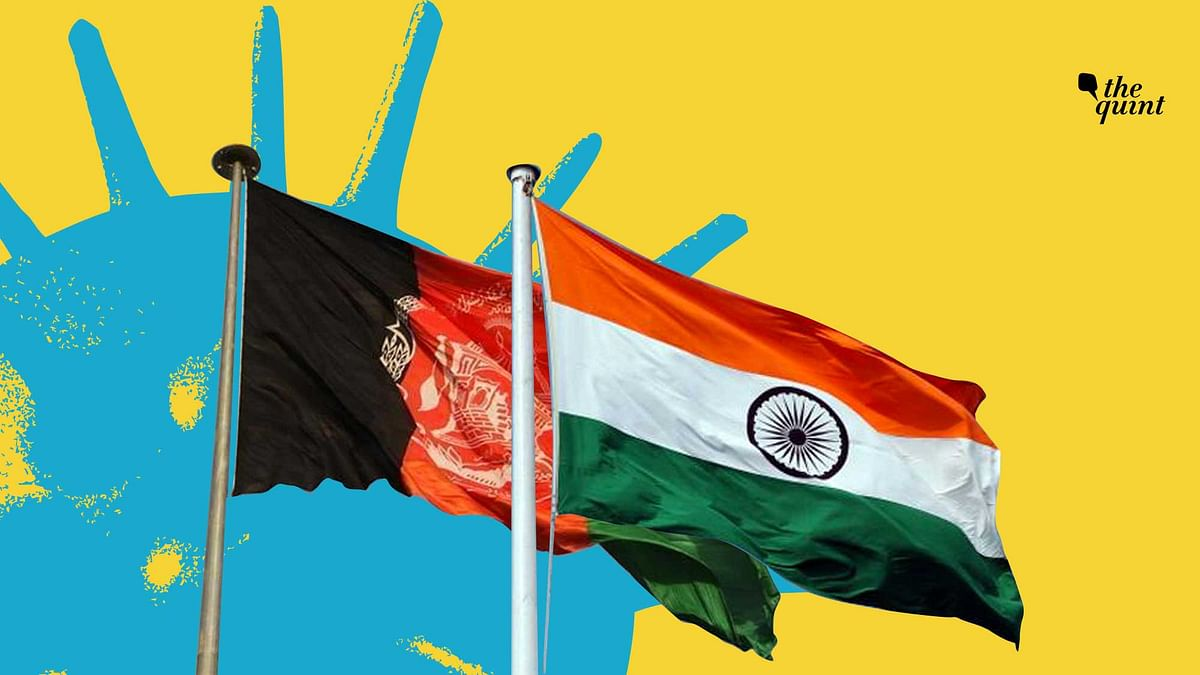 Image of India's and Afghanistan's flags used for representational purposes.