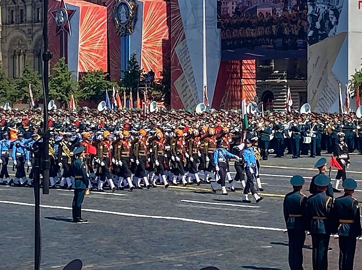 The Victory Day Parade in Moscow.