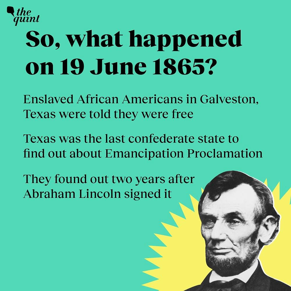 What happened on June 19 1865?