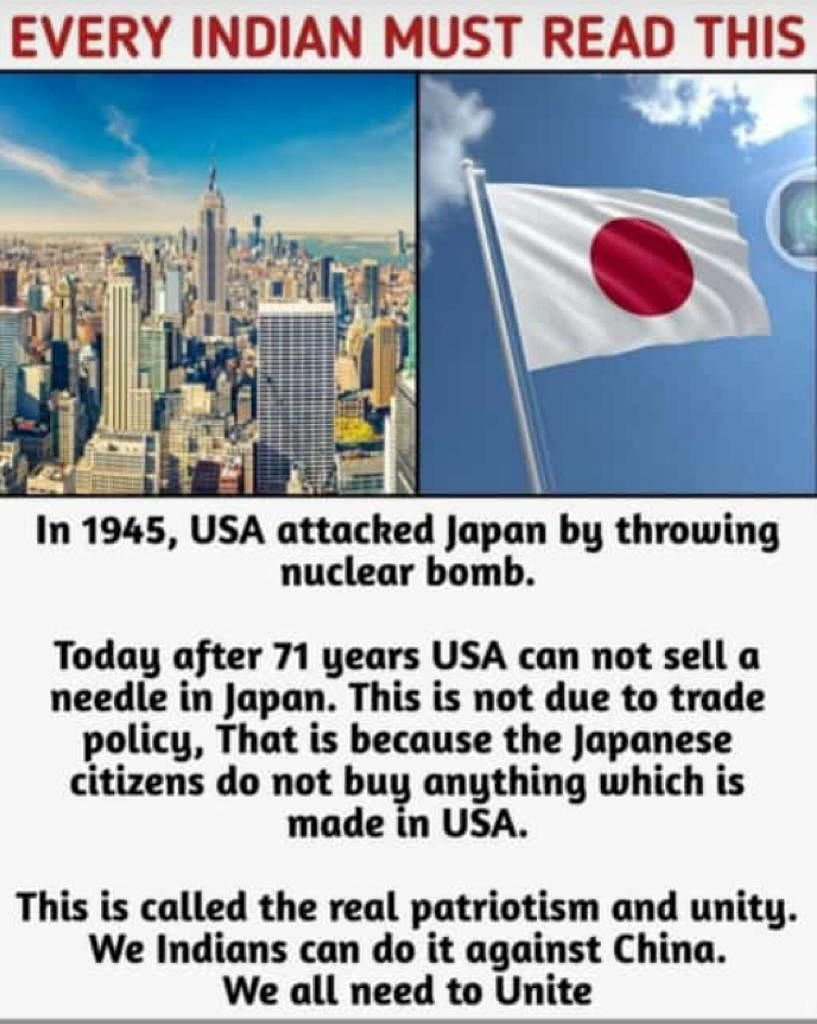 Japan Boycotting US Goods Over 1945 Nuclear Bombings? Not at All