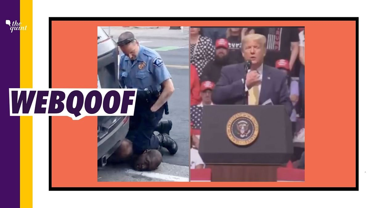 An old video is being shared to falsely claim that US President Donald Trump mocked the death of George Floyd.