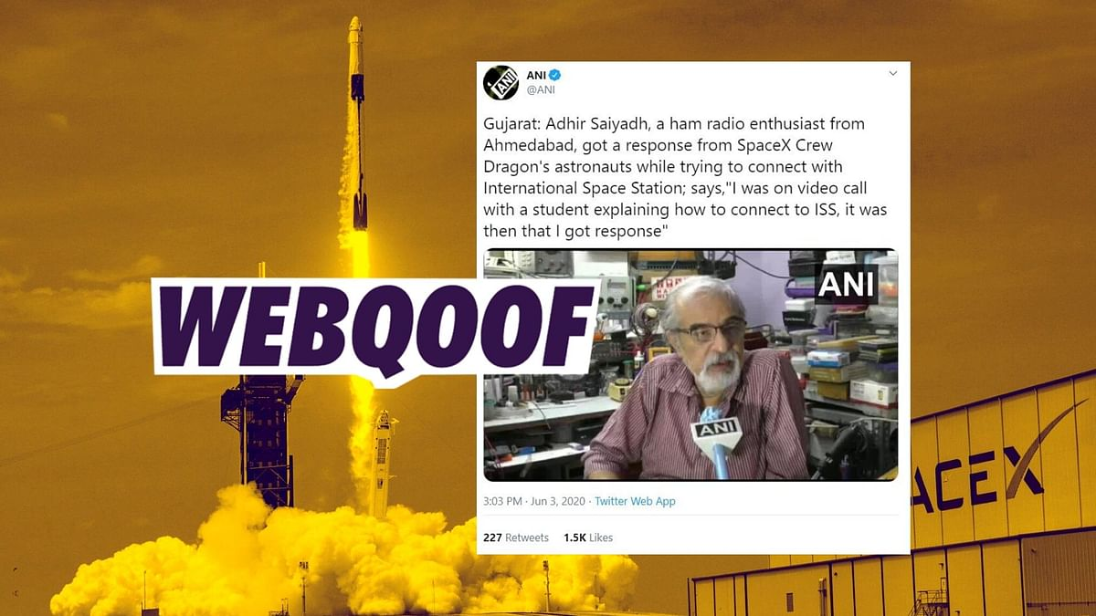 Indian Ham Radio Enthusiast Did Not Connect With SpaceX Crew: NASA
