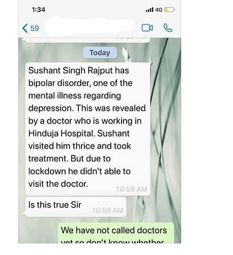 Sushant's Psychiatrist Quashes Claims of Breaching Confidentiality