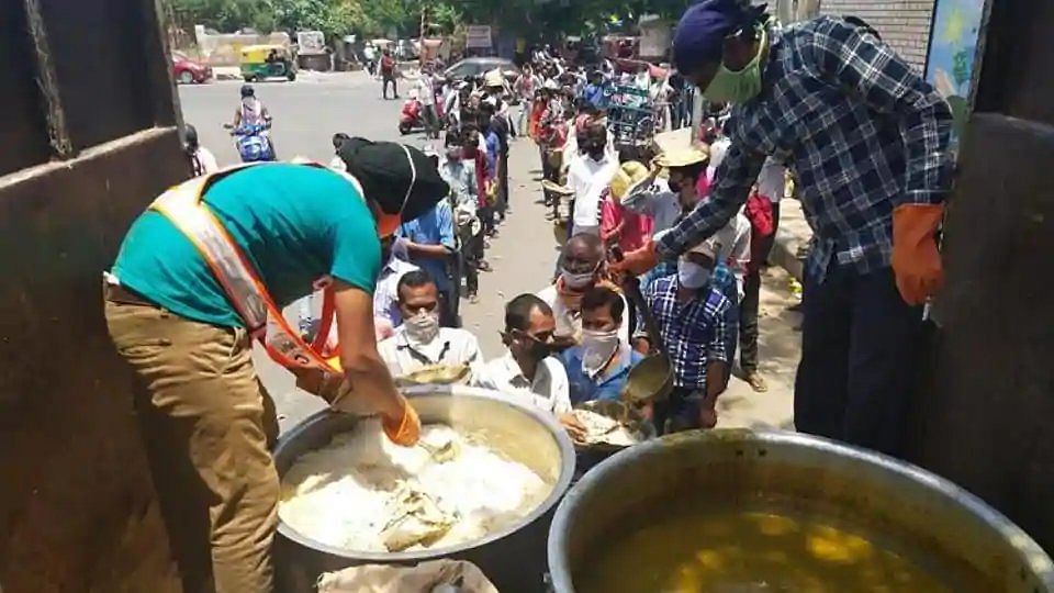 Delhi Sikh Gurdwara Management Committee has launched a 'Langar on Wheels' service.