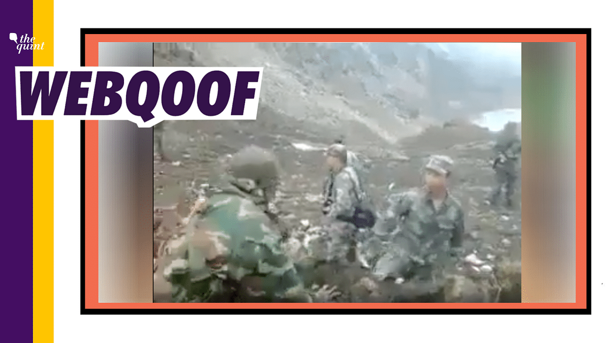 Old Video Used to Claim China Provoking Indian Troops in Ladakh