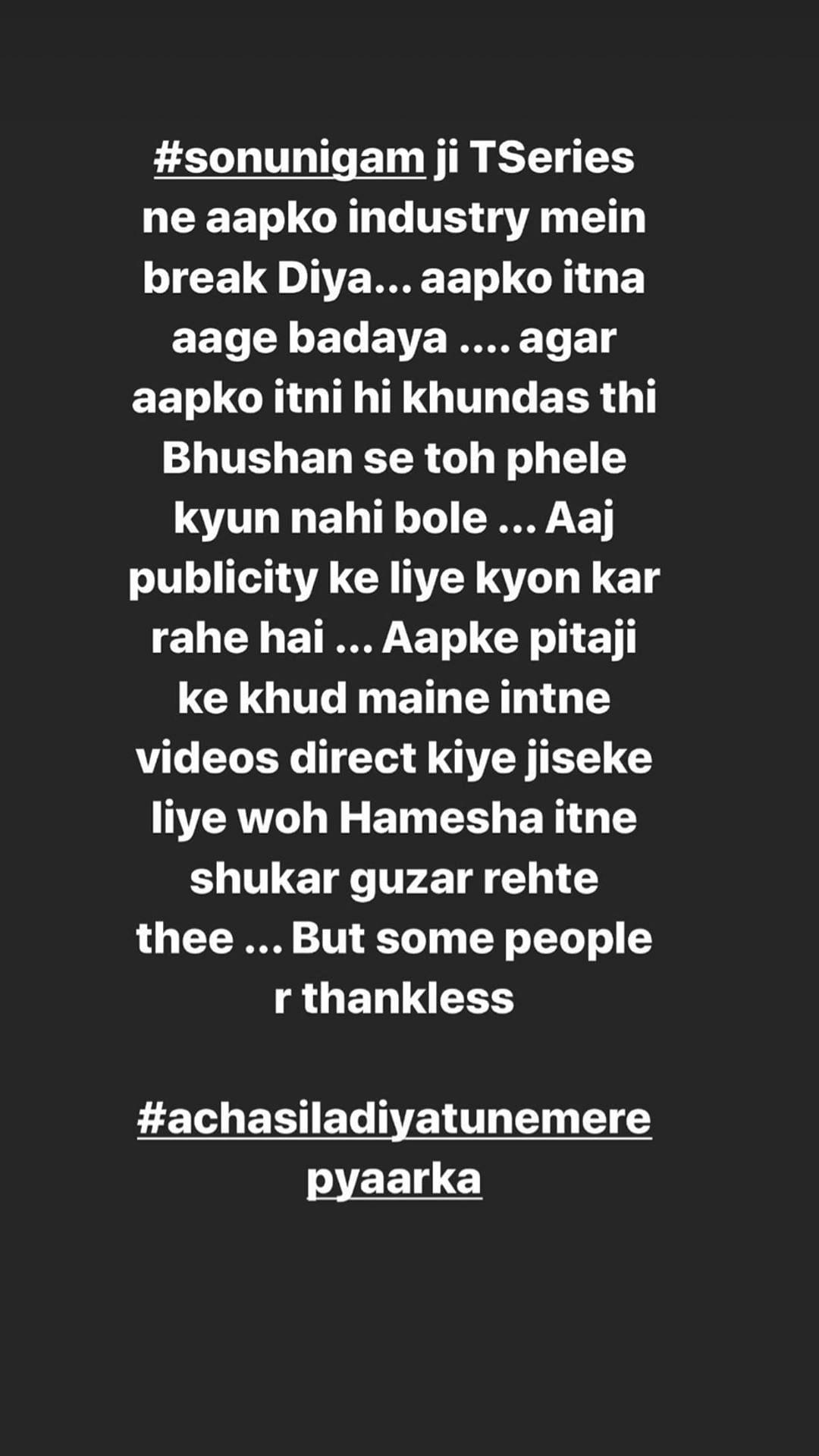 Divya Khosla Reacts to Sonu Nigam's Video, Calls Him 'Thankless'